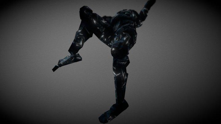 Underwater Arcadian Enemy_  Stunned 3D Model