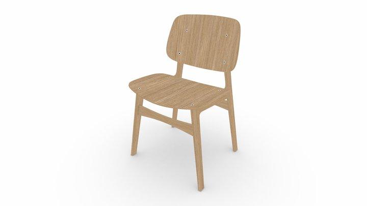 Fredericia Søborg Wood Chair [Blender] 3D Model