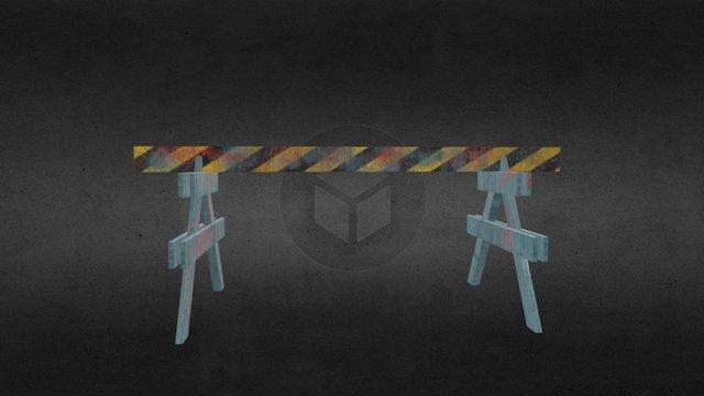 Wood Police Fence 3D Model