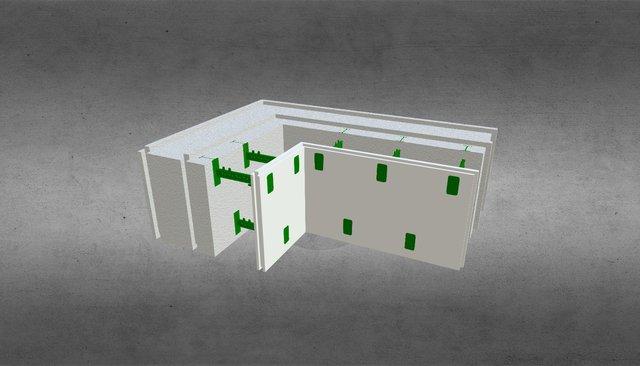 Угловой комблок 250 3D Model