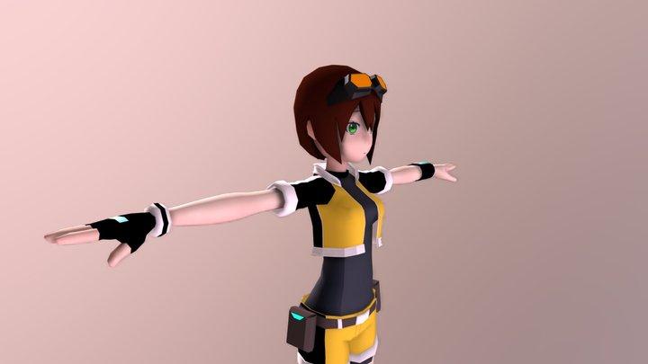 WIP Female Protagonist 3D Model