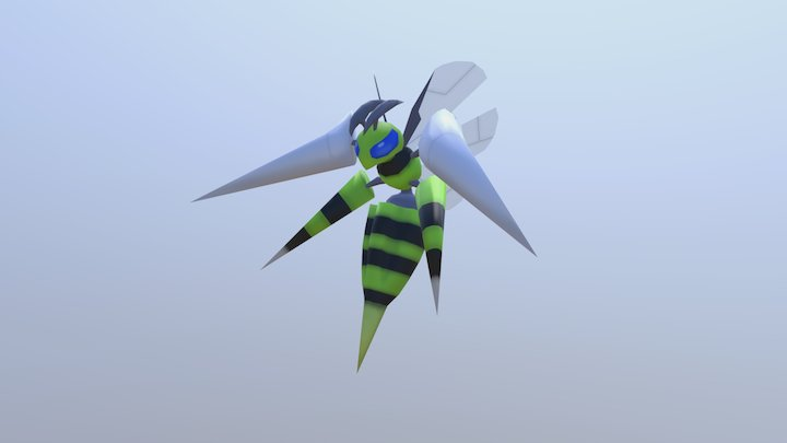 Shiny Mega Beedrill 3D Model