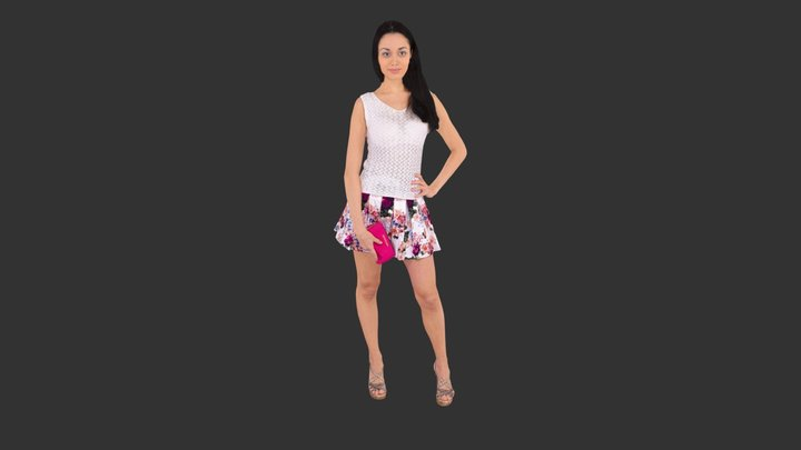 Woman Posed 3D Model