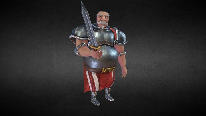 Stylized Knight Character 3D Model