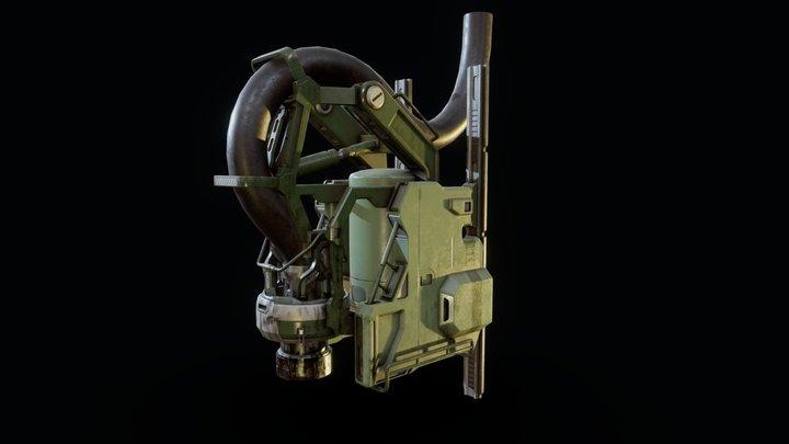 UNSC Fuel Pump 3D Model