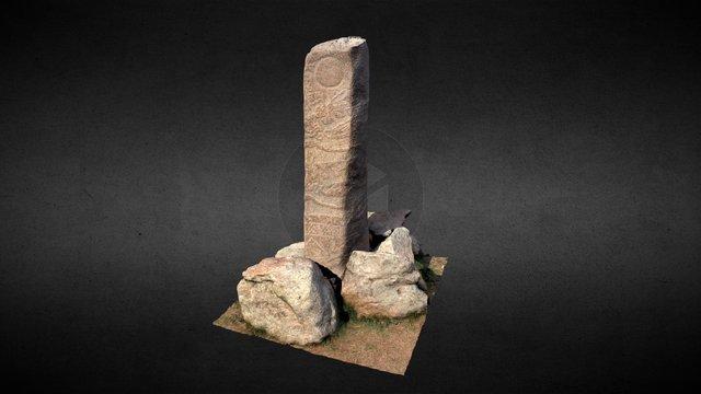 Deer stone N5, Ulaan Tolgoi - Mongolia 3D Model
