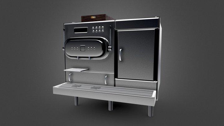 Commercial Coffee Machine Asset 3D Model
