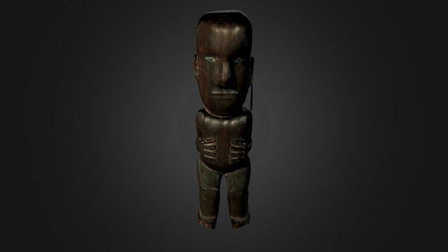 Personnage Maori, Nouvelle-Zélande 3D Model