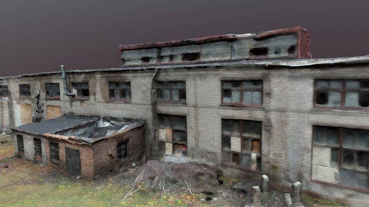 Abandoned Brick Building 3D Model