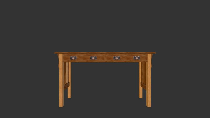 Mission Sofa Table 3D Model