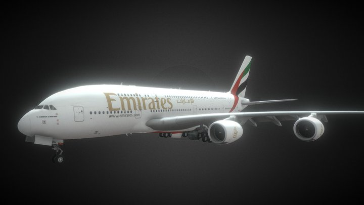 Airbus A380 Fly Emirates 3D Model