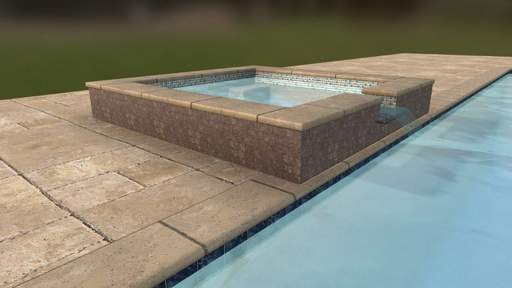pool and spa 3D Model