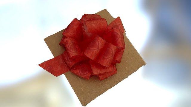 Moño Rojo para regalo 3D Model