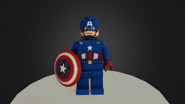 Lego Captain America 3D Model
