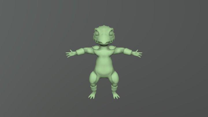 Lizard first version 3D Model