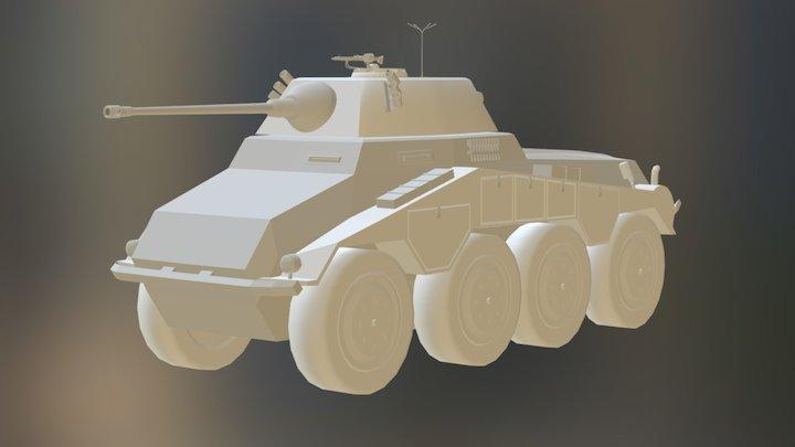 Panzerspähwagen Sd.Kfz 234/2 Puma 3D Model