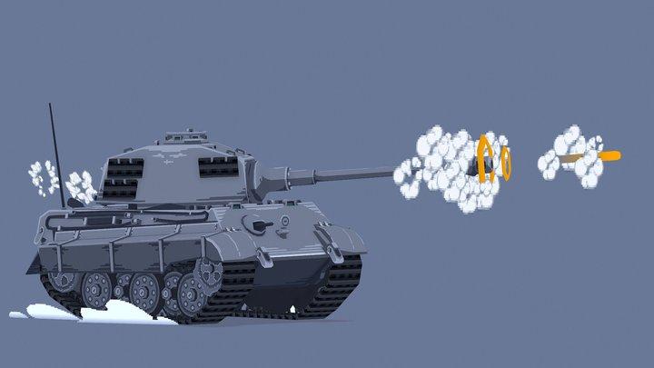 Mini Tiger II - Static Version 3D Model