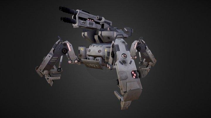 Spider Mech 3D Model