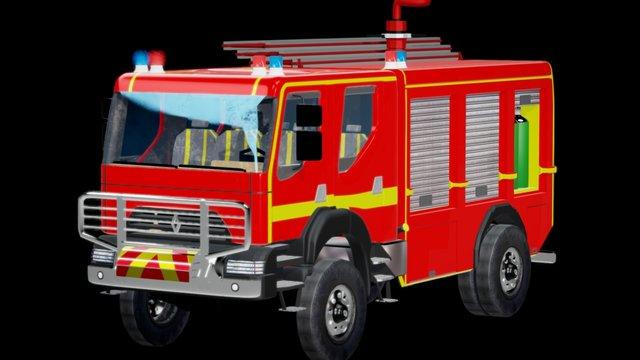 renault fire-truck 3D Model
