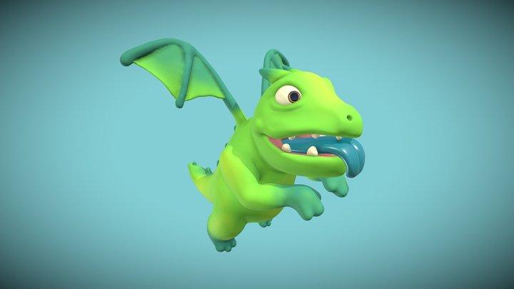 Baby Dragon - Clash Royale 3D Model