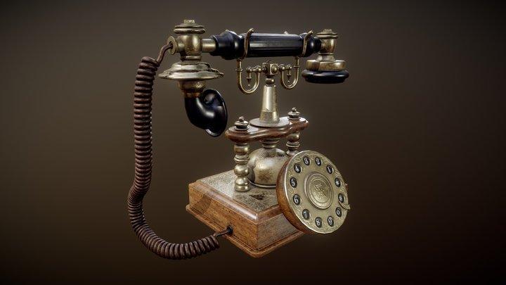 Artesian Antique Telephone 3D Model