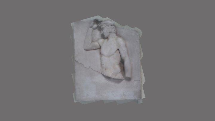 Relieve de atleta coronándose a sí mismo 3D Model