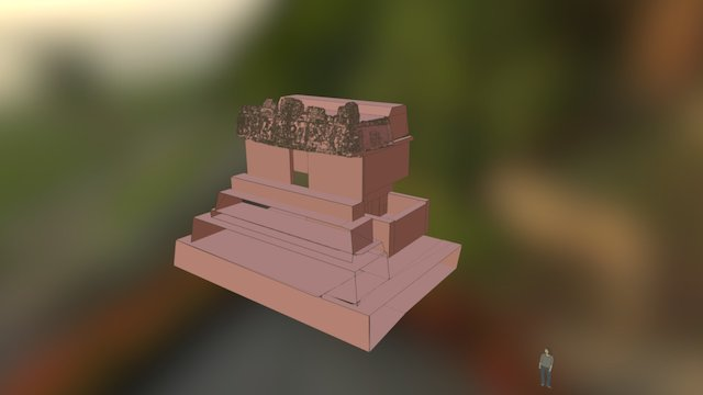 Building A, Group II, Holmul 3D Model