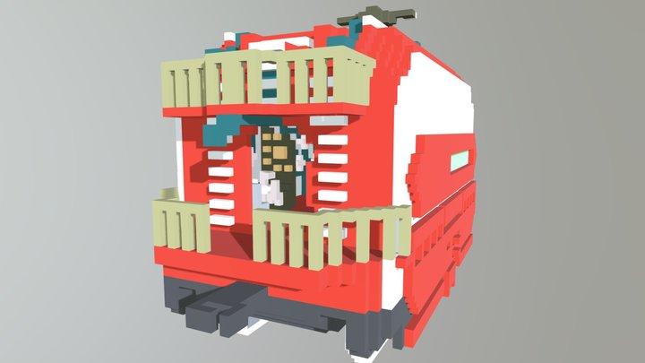 Train Control Center 3D Model