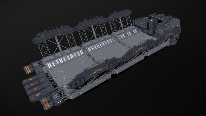 Scifi Repair Dock 3D Model