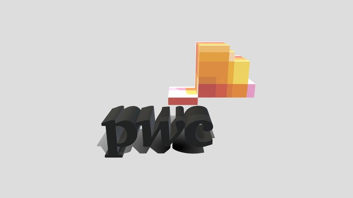 PWC_Logo_3D_obj_Dimension 3D Model