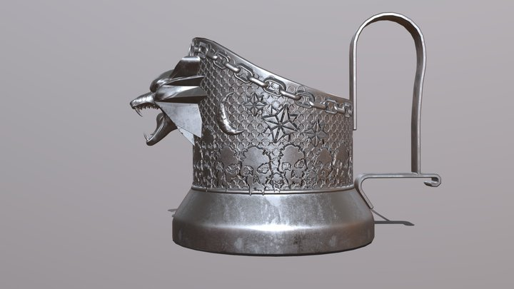 Witcher cup holder 3D Model