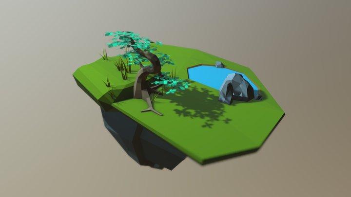 Test Island UV 03a 3D Model