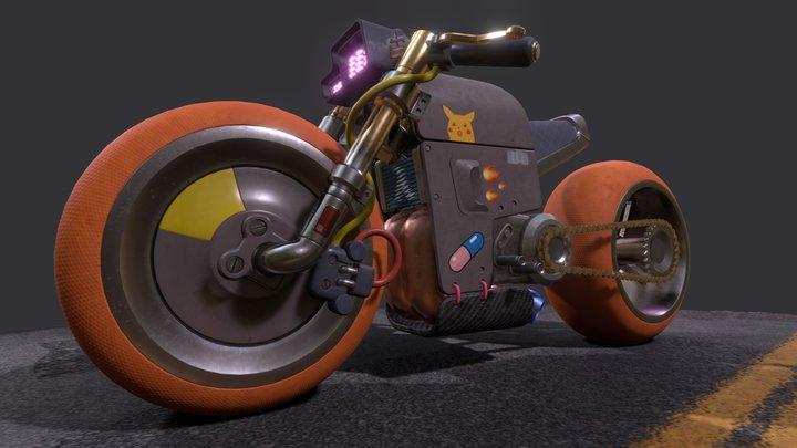 🏍️ Cyberpunk Bike 🚦 3D Model