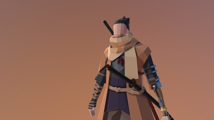 Low-Poly Sekiro 3D Model