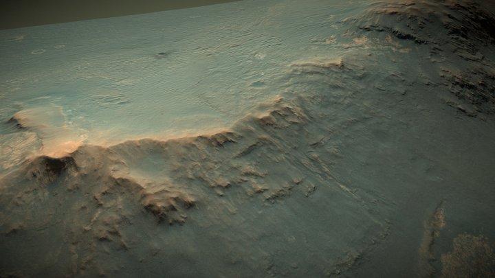Marathon & Perseverance Valley, Endeavour Crater 3D Model