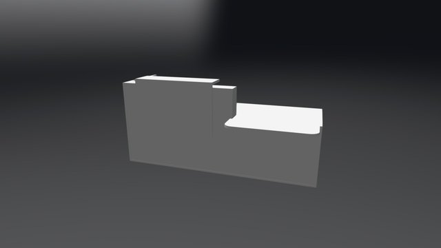 TRA38L Reception Desk 3D Model