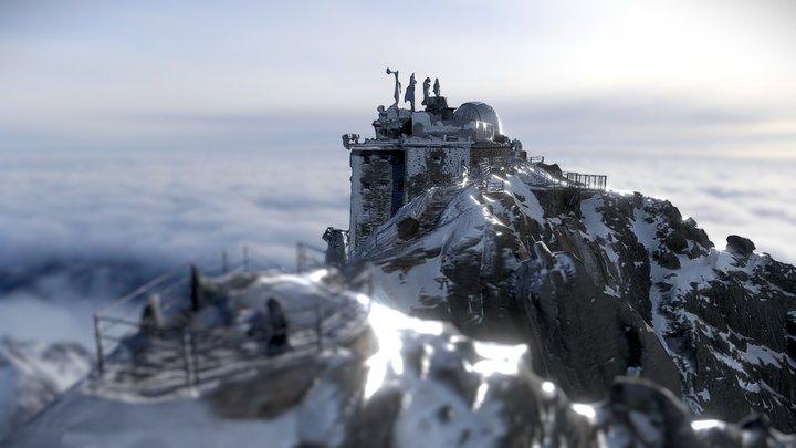 Lomnický Peak | 2634m | High Tatras Slovakia 3D Model