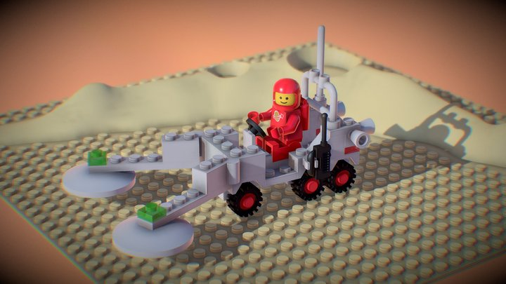 LEGO Space Mineral Detector 3D Model
