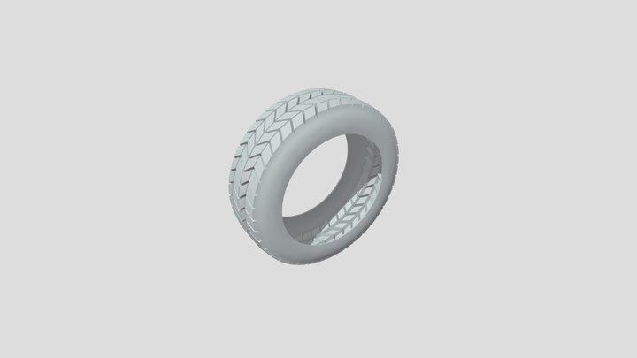 3D Vehicle Tire - Base Mesh 3D Model