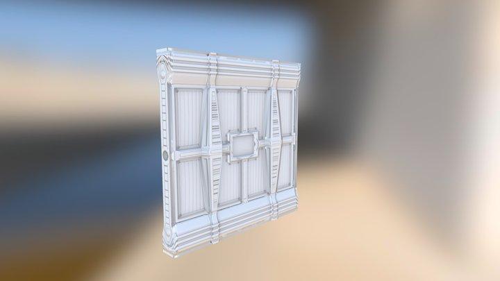 Reinforced wall segment 3D Model