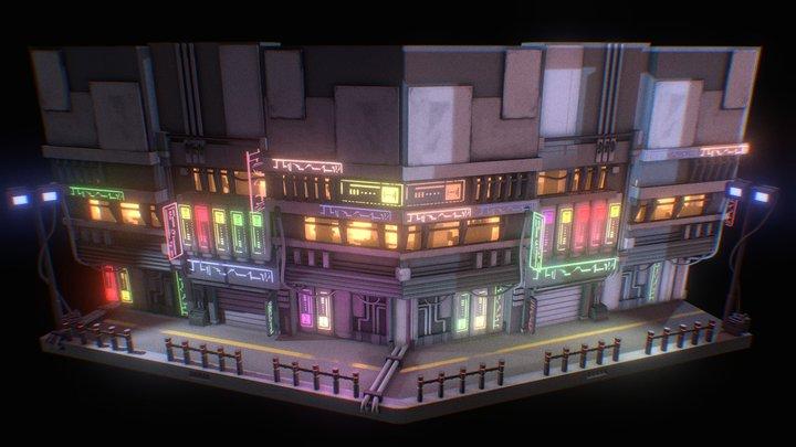 neon city 3D Model