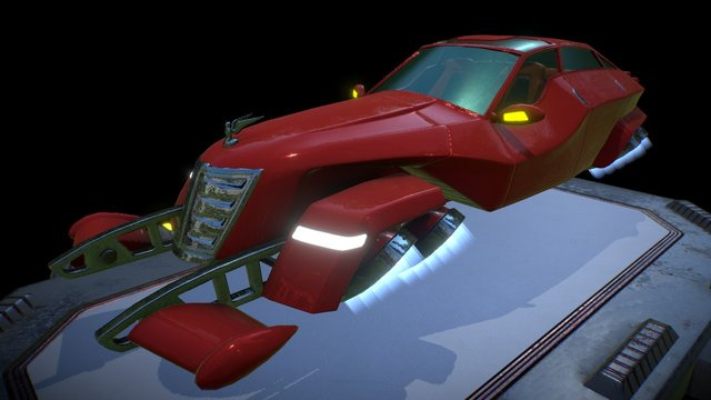 "3d game model Aircar ""Hover Limo"" 3D Model"
