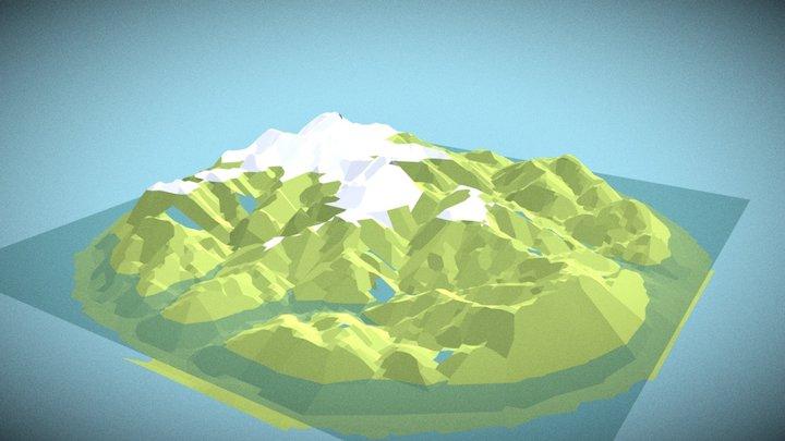 Mountains in Asturias, Spain 3D Model