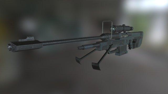 Fan Art: Halo Sniper Rifle 3D Model