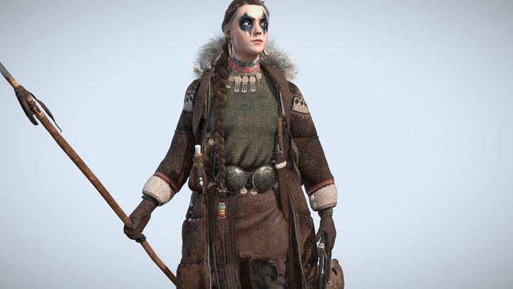 Winter Girl 3D Model