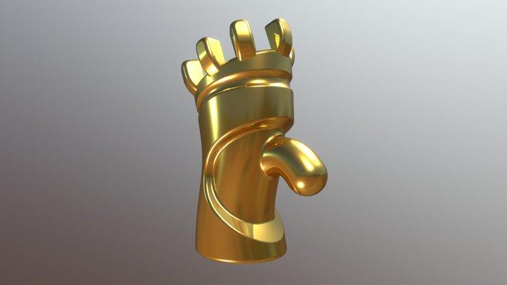 Schachfigur Turm 3D Model