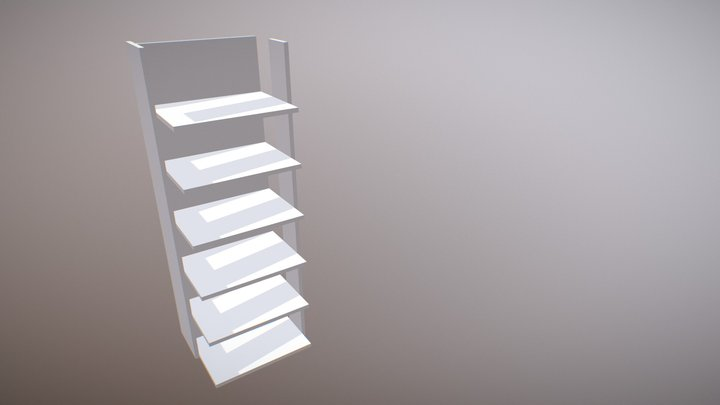 Perfect Fit Reversible Scarf Shelf Animated Demo 3D Model