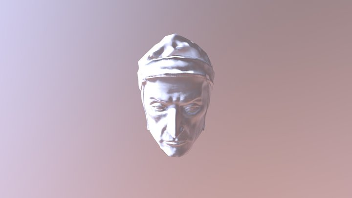 Dante Alighieri with normal map 3D Model