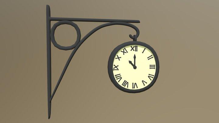 Station clock - Cartoon style 3D Model
