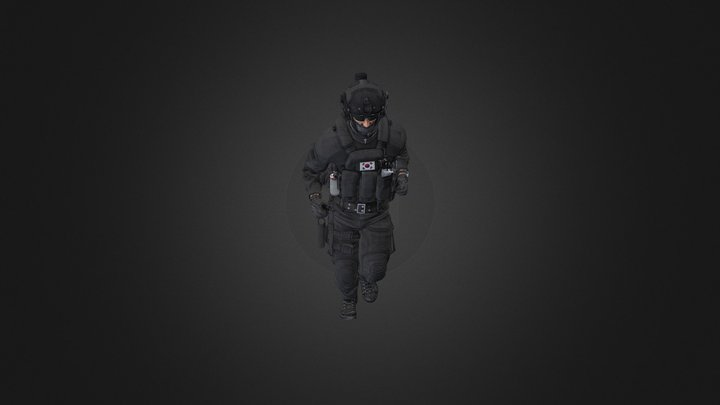 Korea Swat 3D Model